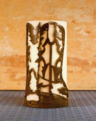 Cowboy Boots - Metal Candle Holder Luminary