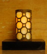 Octogon Links - Metal Candle Holder Luminary