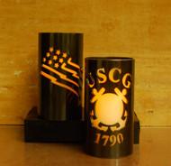 Coast Guard - Metal Candle Holder Luminary