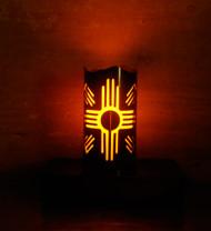 Santa Fe Zia - Metal Candle Holder Luminary