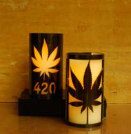 420 Leaf - Metal Candle Holder Luminary