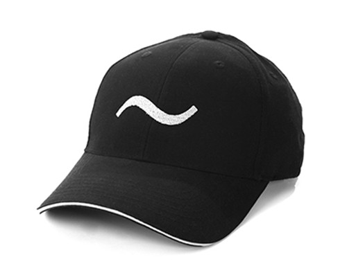 BLACK 100% polyester brushed microfiber Six-panel, mid-crown structured, matching sewn eyelets. Pre-curved visor, contrast color sandwich visor. Soft, mesh white nylon lining in crown, Moisture management wicking fabric, self-fabric Velcro® closure. Grey Embroider Logo and Name Preferred Golfers Wear