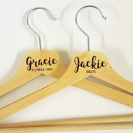Wedding Party Hangers  - Wood