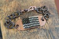 Copper Flag Bracelet