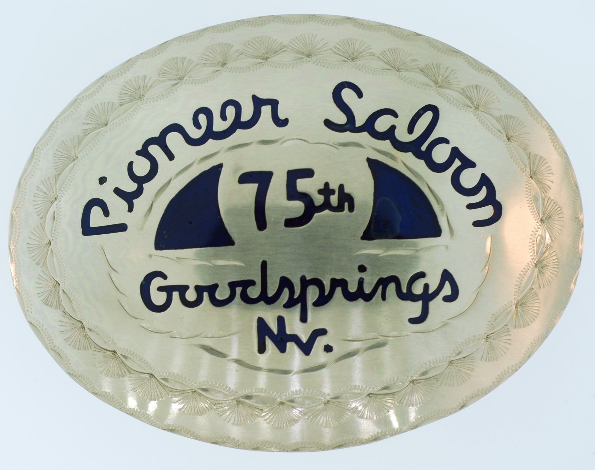 Pioneer Saloon 75th Anniversary Buckle
