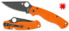 Spyderco C81GPORBK2 PARA MILITARY 2 - FFG CTS-XHP DLC Black Coated Blade - Orange G-10 Handle - CUTLERY SHOPPE EXCLUSIVE - SOLD OUT