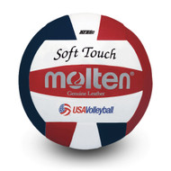 Soft Touch Volleyball- USAV Approved - R/W/B