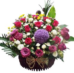 กระเช้าดอกไม้ B18