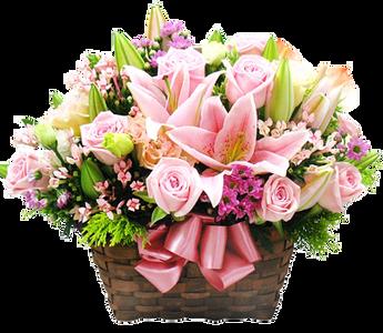 กระเช้าดอกไม้ B20