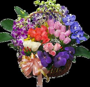 กระเช้าดอกไม้ B21