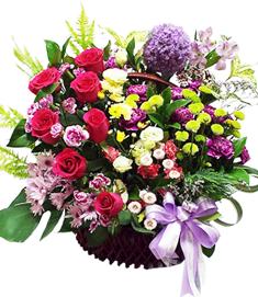 กระเช้าดอกไม้ B25