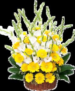 กระเช้าดอกไม้ B27