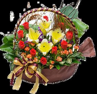 กระเช้าดอกไม้ B28