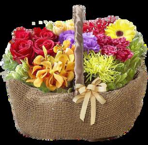 กระเช้าดอกไม้ B32