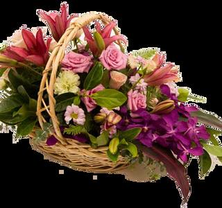 กระเช้าดอกไม้ B33