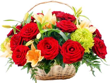 กระเช้าดอกไม้ B34