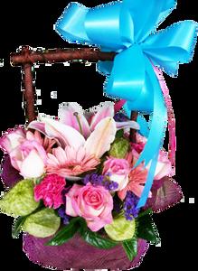 กระเช้าดอกไม้ B36
