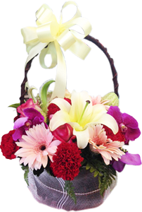 กระเช้าดอกไม้ B37
