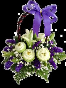 กระเช้าดอกไม้ B38
