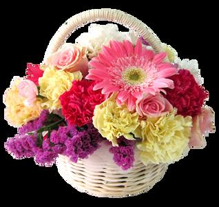กระเช้าดอกไม้ B40