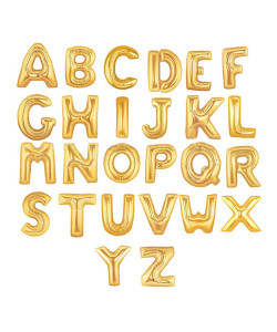ลูกโป่งอักษรฟอยล์ 14 นิ้ว สีทอง 3 อักษร BF019