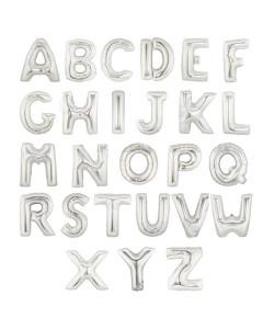 ลูกโป่งอักษรฟอยล์ 14 นิ้ว สีเงิน 3 อักษร BF020