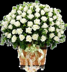 กระเช้าดอกไม้ B03