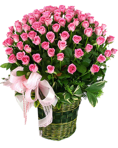 กระเช้าดอกไม้ B04