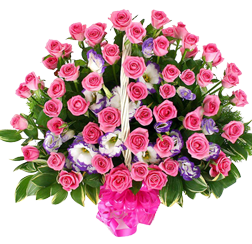 กระเช้าดอกไม้ B06