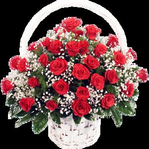 กระเช้าดอกไม้ B07