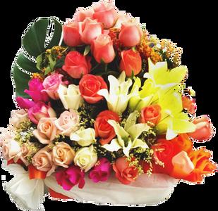 กระเช้าดอกไม้ B09