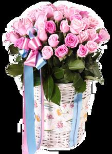 กระเช้าดอกไม้ B10