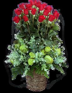 กระเช้าดอกไม้ B11