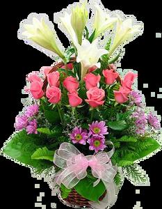 กระเช้าดอกไม้ B12