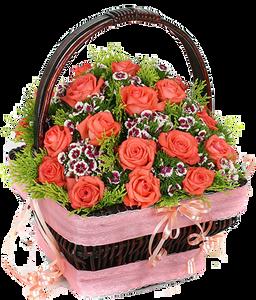 กระเช้าดอกไม้ B14