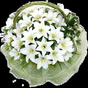 กระเช้าดอกไม้ B15
