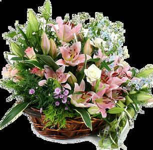 กระเช้าดอกไม้ B16