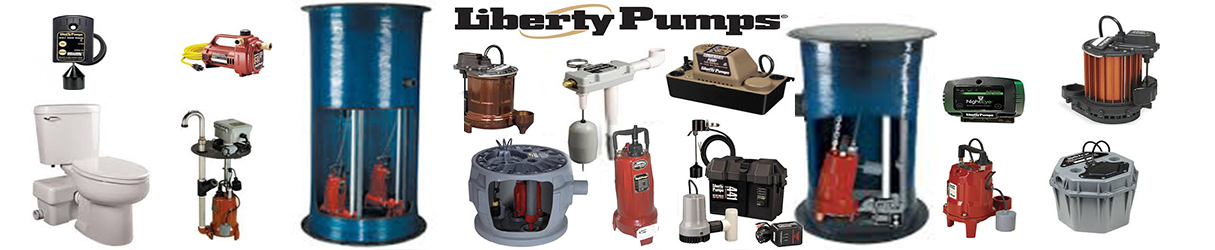 Liberty Pumps we carry sewage, sump, elevator, grinder, high temp, effluent, explosion proof, macerating,  and many more!