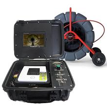 """R"" Style DVD Monitor & Ridgid 325' Color Reel 14058"