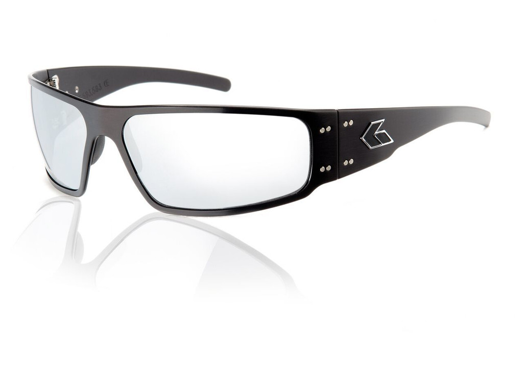 Black Frame w/ Grey Chrome Lens