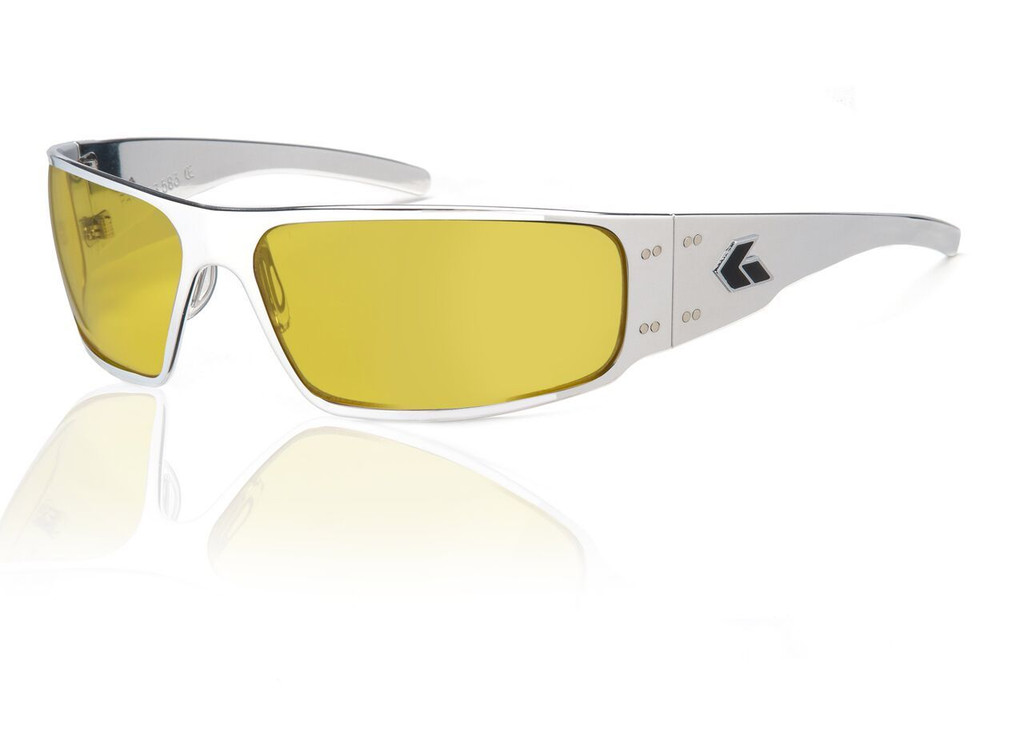 Polished Frame w/ Yellow Lens
