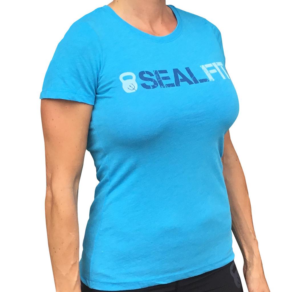 New- Women Blue SealFit Shirt