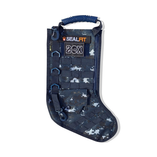 Blue Digi Camo Tactical Stocking w/Molle