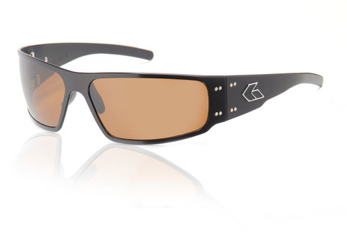 Black Frame w/ Amber Polarized Lens