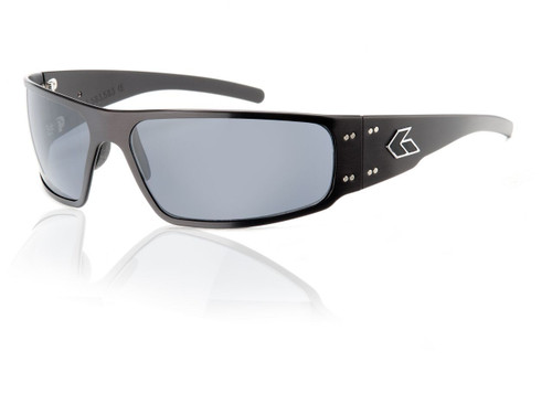 Black Frame w/ Grey Lens