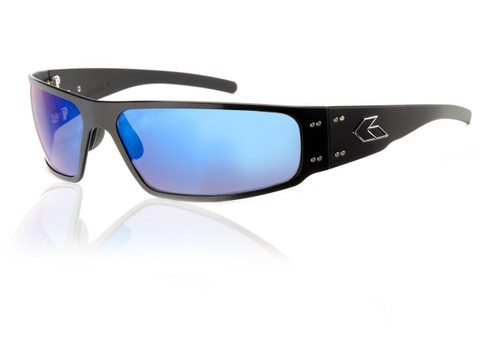 Black Frame w/ Blue Chrome Lens
