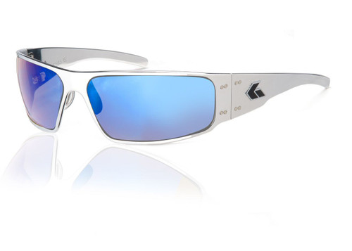 Polished Frame w/ Blue Chrome Lens
