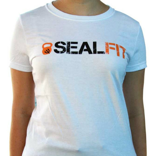 SEALFIT Logo Women's White Tee