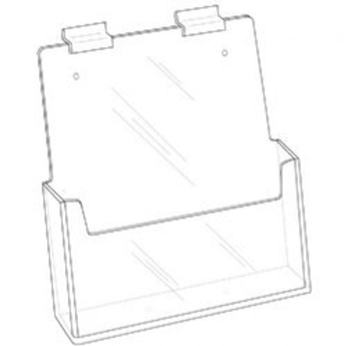 8.5x11 Clear Acrylic Slatwall Brochure Holder