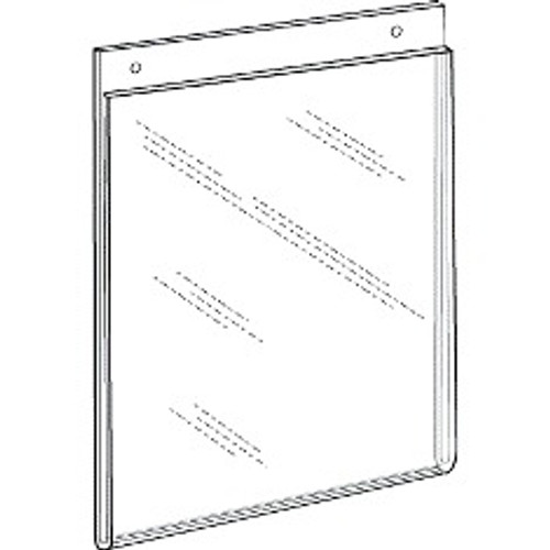 85x11 portrait wall mount sign holder with holes
